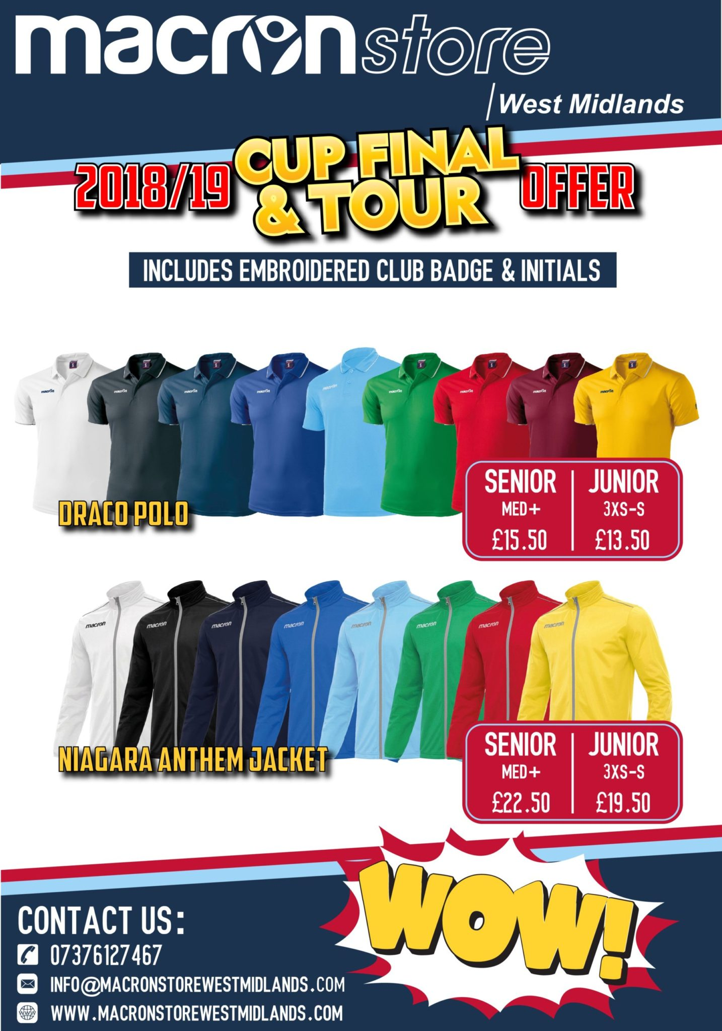 Cup Final and Tour Offer